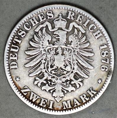 Germany-Prussia 1876-A 2 Mark Silver Coin