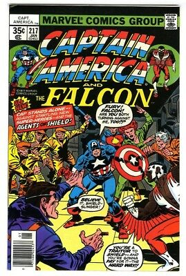 Captain America #217 (1978) VF+ New Collection 1st Quasar