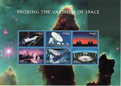 Probing The Vastness Of Space Stamp Sheet -- Usa #3409 60 Cent 2000 Space