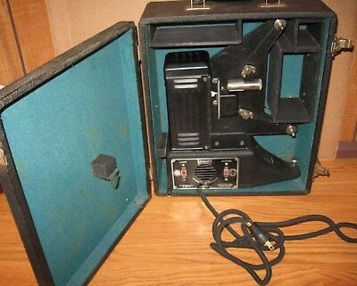 vtg UNIVEX 8mm Film Projector w/Case 1930's for Parts/Repair prop