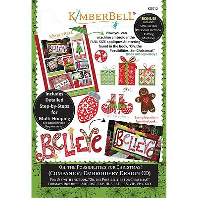Kimberbell OH THE POSSIBILITIES….FOR CHRISTMAS! MACHINE EMBROIDERY CD Companion