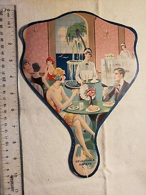 Vintage Hand Fan Advertising Evergreen Miniature Country Club Omaha's Playground