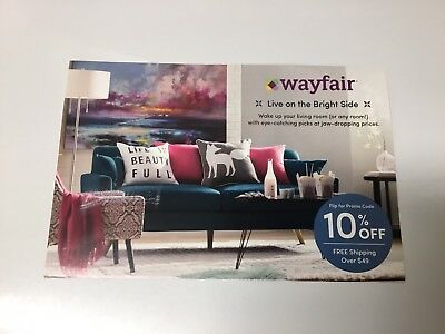 Wayfair.com 10% off Entire Purchase On-line Coupon 1st Time Shop Only Exp 3/31