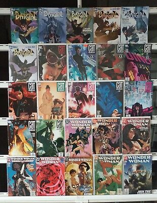 Adam Hughes Covers Batgirl Catwoman Wonder Woman 25 Comic Book Set Run Books