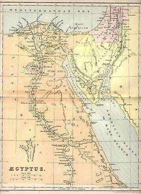 CLASSICAL Antique MAP ~ EGYPT EGYPTUS ~ William Hughes 1905 Philip & Son