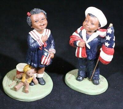 Martha Holcombe God Is Love Nellie & Billy Figure Patriotic Black Americana