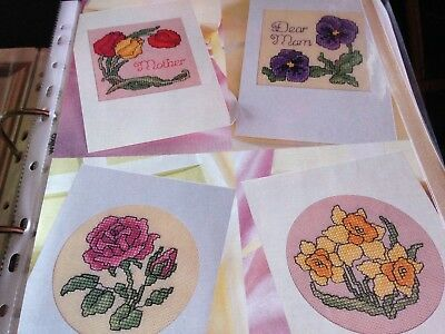 Cross Stitch Chart 6 Mum Mother Flower Animal Card Motif Charts