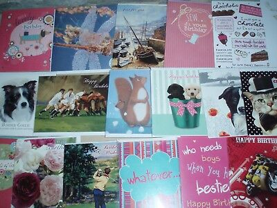325 Assorted Birthday / Blank / Ages,Relations,Wedding,Baby,Thank you ~last box!