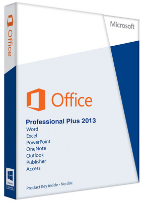 Microsoft Office Professional Plus 2013 Key MS Office Pro Vollversion 1 PC Email