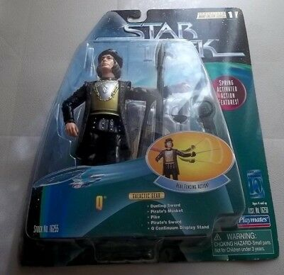 Star Trek Tng Playmates Figure - Q  With Real Fencing Action - New