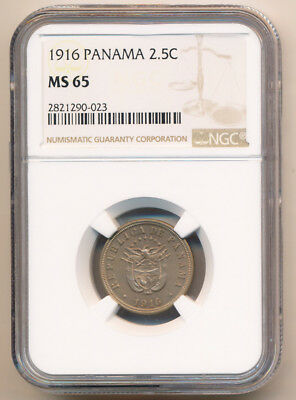 1916 Panama 2 1/2¢ Ngc Ms65 Gem ### Lustrous Beauty ### Must See >> No Reserve
