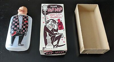 Milbit Mfg. Co. Hip Nip Vintage 1950's Plastic Novelty Flask (with original box)