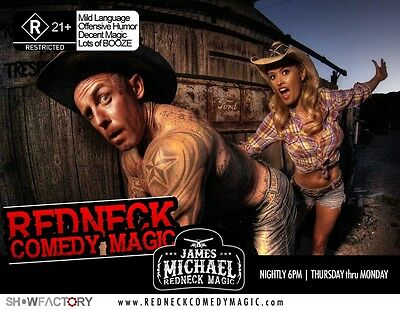 2 Tickets To The James Michael Redneck Comedy Magic Show