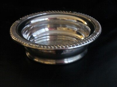 Vintage Silver Plated Wine Bottle Coasters