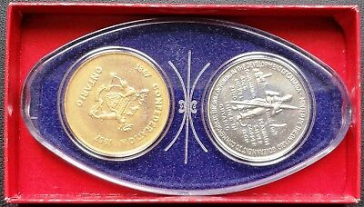 Set of 2x 1967 Mining Development Ontario Medals - Silver & Brass Colours