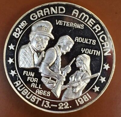 82nd Grand American Trapshooting Veterans/Adults/Kids 1 Troy Oz .999 Silver Coin
