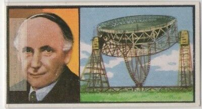 Bernard Lovell Radio Astronomer And Physicist Telescopt Vintage Trade Ad Card