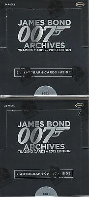 James Bond Archives 2015 Edition - 2 (TWO) Factory Sealed Trading Card Boxes