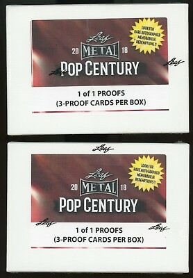 Lot (2) 2018 Leaf Metal Pop Century Sealed Unopened Box w/ 6 Proof Cards