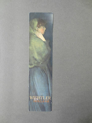BOOKMARK Artist James McNeill Whistler in Holland RijksMuseum  Amsterdam 1997