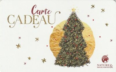 Carte Cadeau  Gift Card - Nature Et Decouverte   (France)