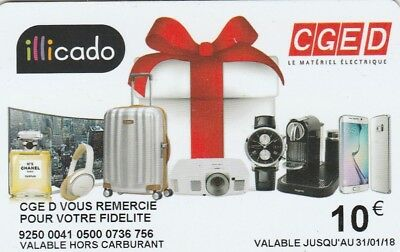 Carte Cadeau  Gift Card - Illicado  Cged   (France)
