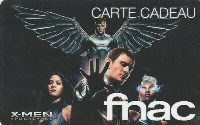 CARTE CADEAU  - ## FNAC  X-MEN  ##  (FRANCE) Gift card