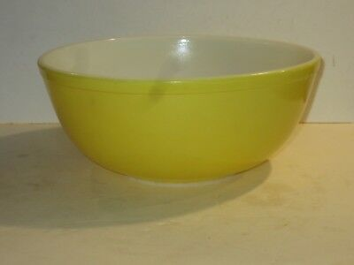Pyrex Vintage Large Yellow Mixing Bowl, 4 Quart, From The Primary Color Set