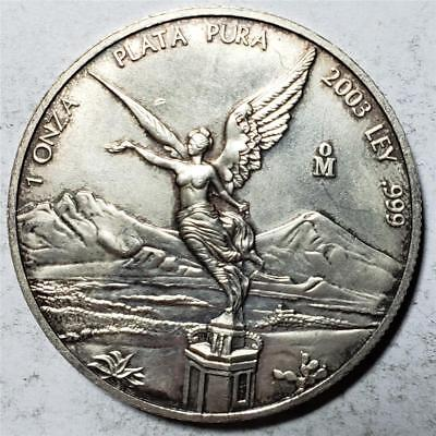 Mexico, Onza/Libertad, 2003 Lightly Toned Uncirculated, 1 Ounce .999 Silver