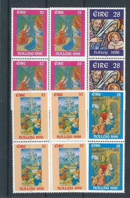 [17702] Ireland 1996 : 4x Good Set of Very Fine MNH Stamps in Blocks