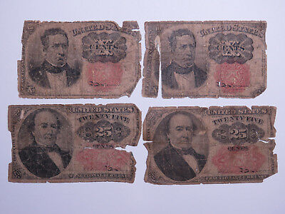 US Fractional Currency Lot 1874 10 & 25 Cents