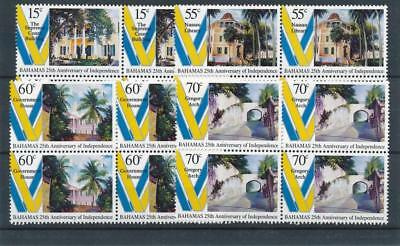 [18039] Bahamas 1998 : 4x Good Set of Very Fine MNH Stamps in Blocks