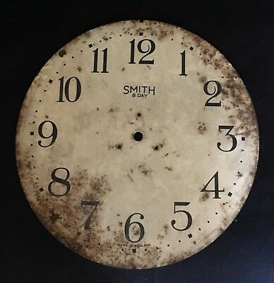 Vintage Smiths 8 Day Wall Clock Face Only 1943