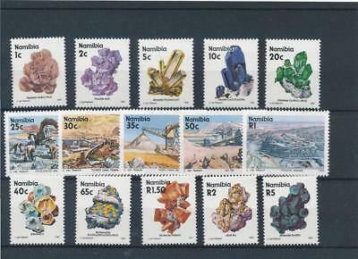 [58240] Namibia 1991 Minerals good set MNH Very Fine stamps