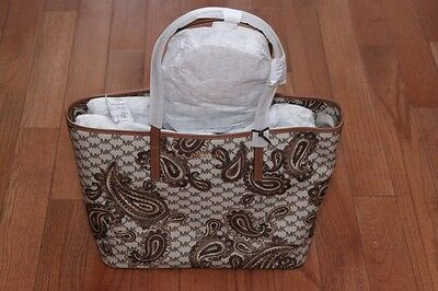 3aee5d89be98 NWT Michael Kors  378 Mercer Studio Paisley Emry Large Top Zip Tote Bag  Luggage