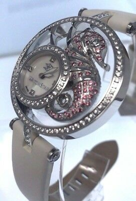 New Watchstar Diva Star 45mm Swiss Made Sea Dragon Hand Placed Stones Watch