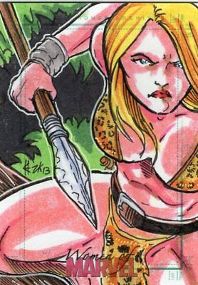 Women of Marvel 2013 - Color Sketch Card by Unknown Artist