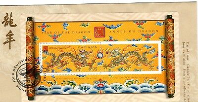 Canada Year of the Dragon FDC