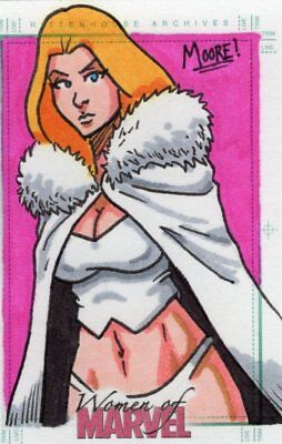 Women of Marvel 2013 - Color Sketch Card by Moore - White Queen