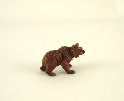 Franz Bergmann Vienna Austria Tiny STANDING BEAR Grizzly Bronze Cold Painted