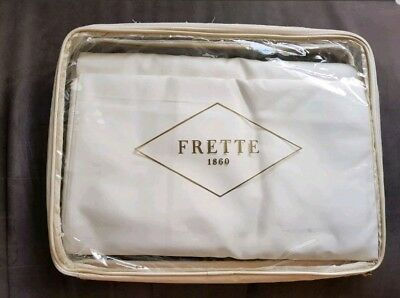 New FRETTE Ivory Cream Chine Lace Super King Bedsheet Flatsheet 100% Cotton