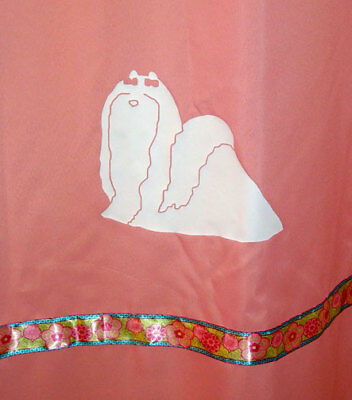 Maltese Dog Pink Shower curtain White dogs with flower ribbons Sale Free ship