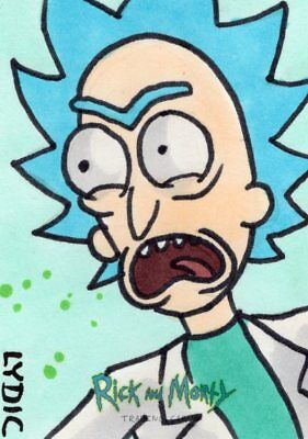 2018 Cryptozoic Rick and Morty Color Hand Drawn Sketch Card by Steve Lydic