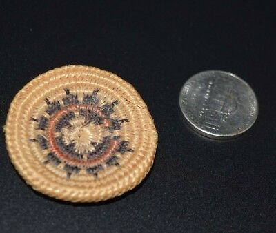 Finely Woven Navajo Indian Miniature Wedding Basket Native American Mini 3