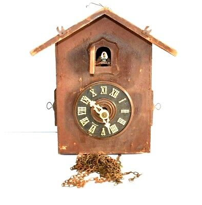 VINTAGE CUCKOO CLOCK - AS IS - FOR PARTS OR RESTORATION - Made in Germany