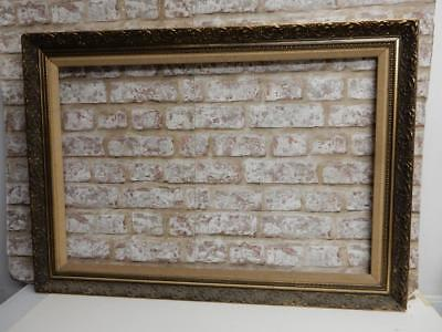 "old picture frame LARGE gold  fits a 30"" X  20 INCH painting"