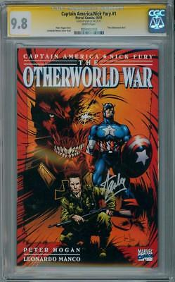 Captain America Nick Fury Otherworld #1 Cgc 9.8 Signature Series Signed Stan Lee
