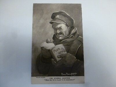 Vintage Postcard The Eternal Question - Army (G)