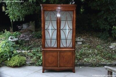 Titchmarsh And Goodwin Mahogany China Glass Display Cabinet Sideboard Dresser