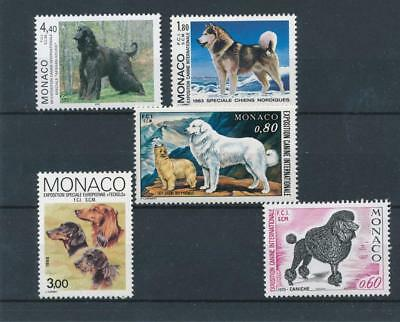 [110057] Monaco Dogs good Lot very fine MNH Stamps